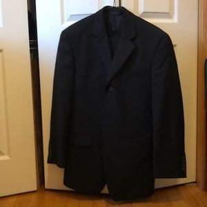 Other - black pinstripe suit jacket and pants